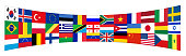 Background flags of the world