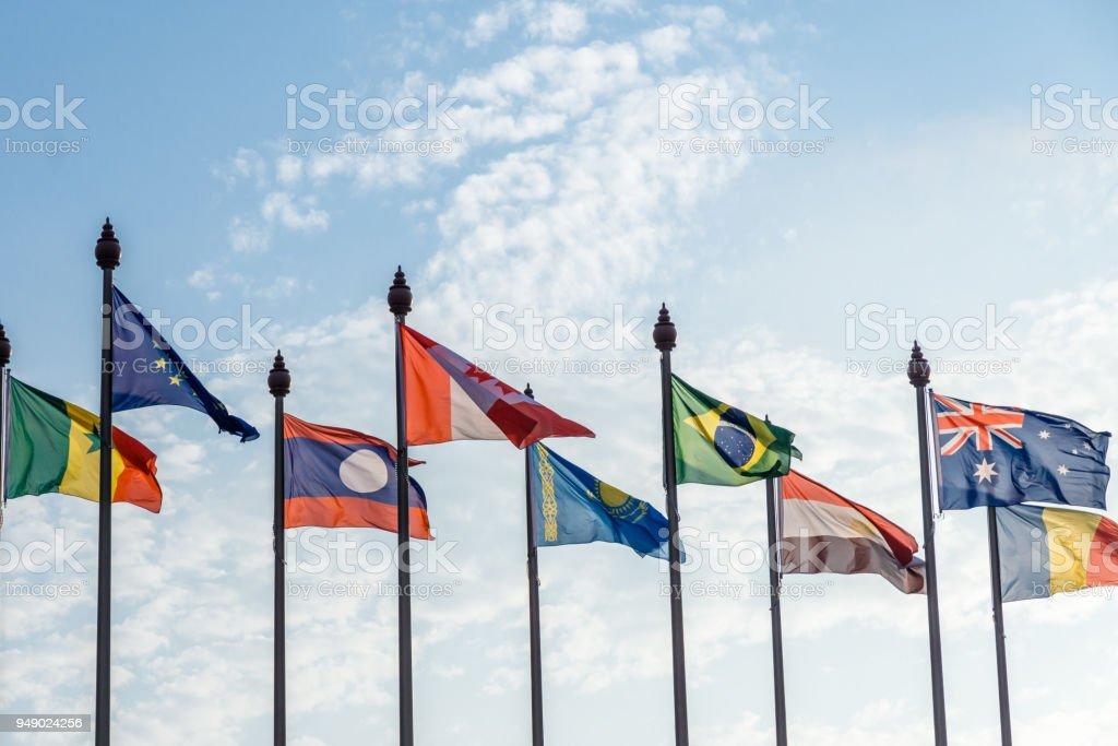 Banderas del mundo - foto de stock
