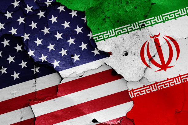 flags of usa and iran - usa stock pictures, royalty-free photos & images