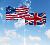 flags of usa and United Kingdom