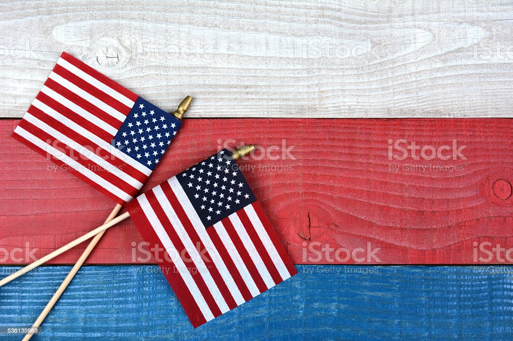 Flags on Partiotic Table stock photo