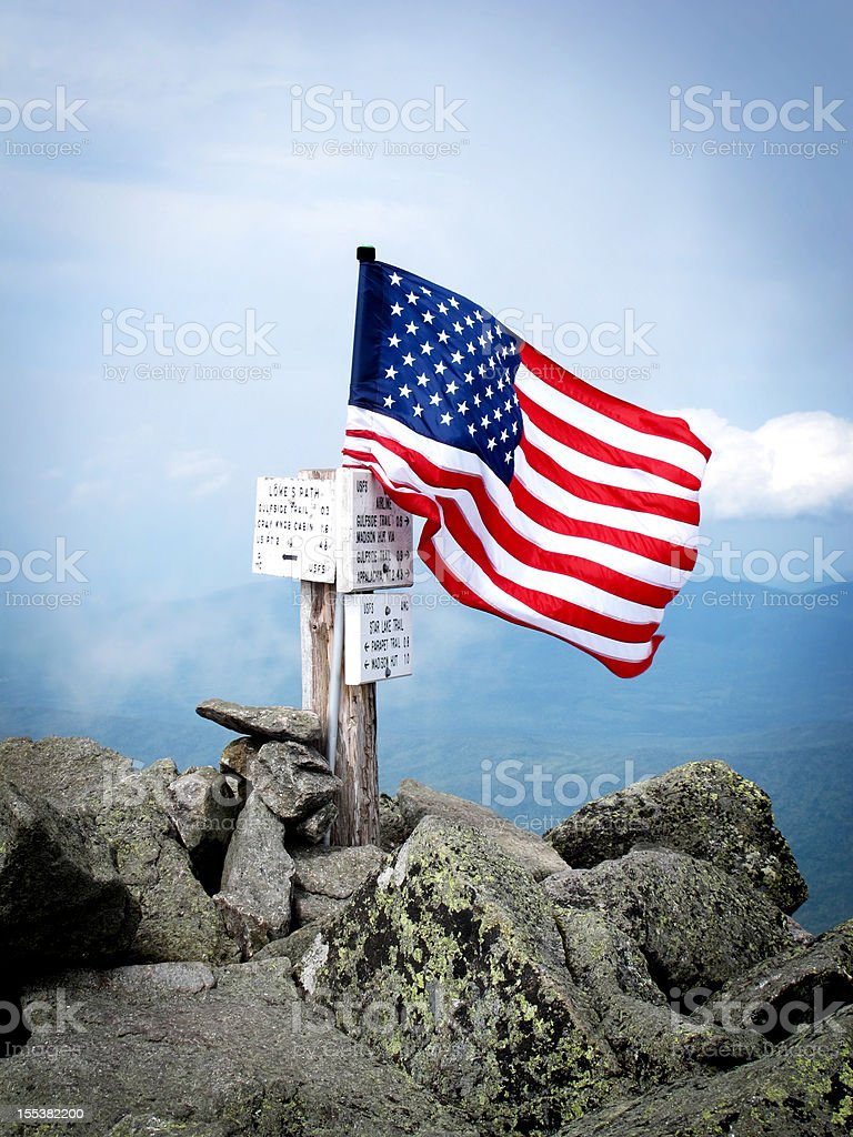 Flags on the 48 for September 11th stock photo