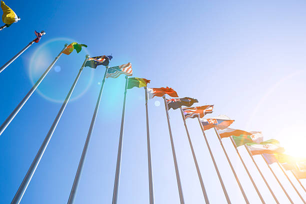 Flags Flags diplomacy stock pictures, royalty-free photos & images