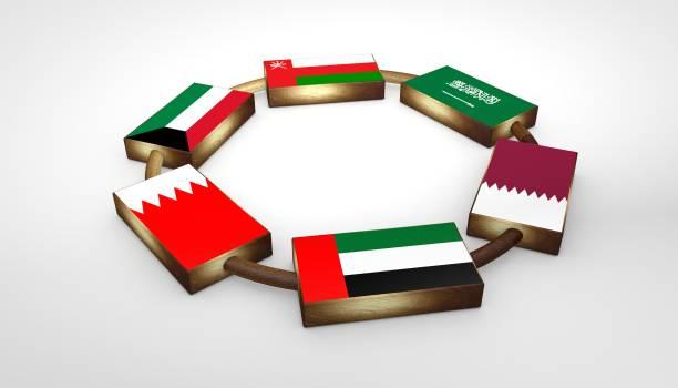 GCC Flags stock photo