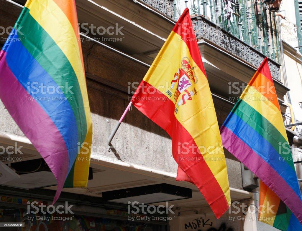 Flags stock photo