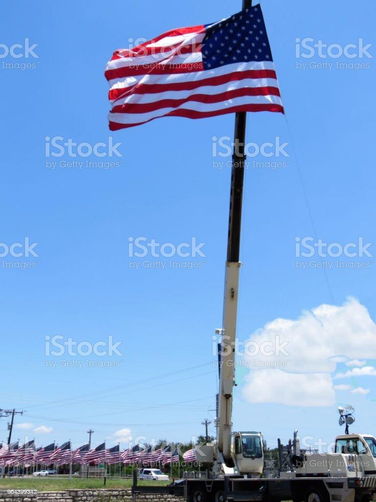 Amerikaanse vlaggen - Royalty-free Amerikaanse cultuur Stockfoto
