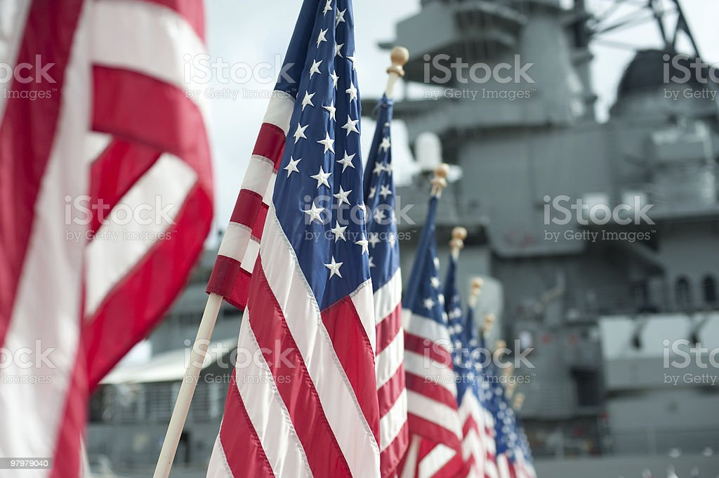 US flags royalty-free stock photo