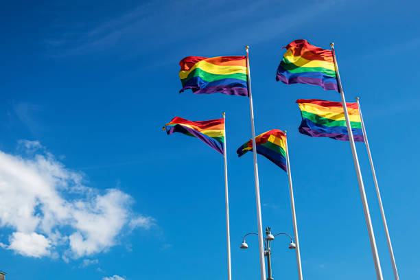 Flags pride stock photo