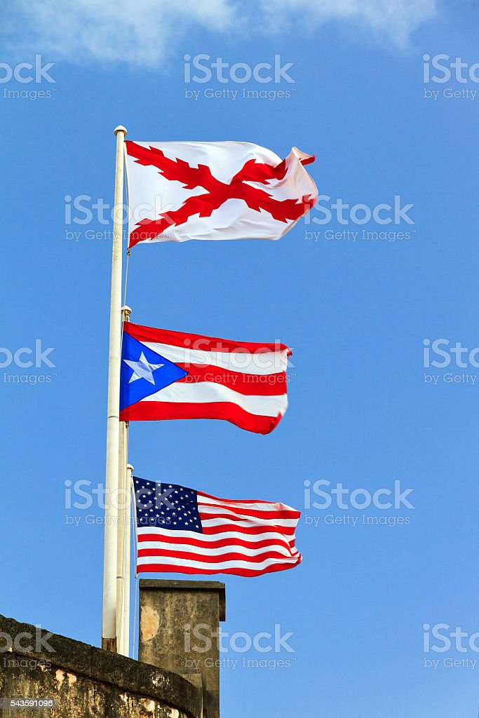 Flags San Cristobal - foto de stock