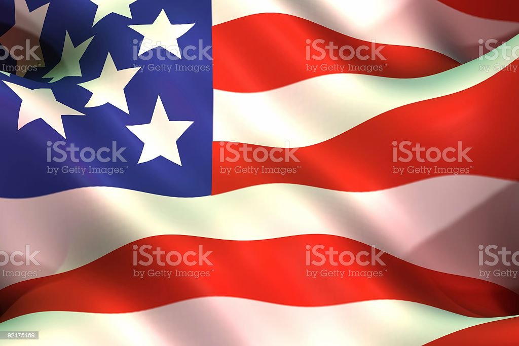 Flags, USA (3D) royalty-free stock photo