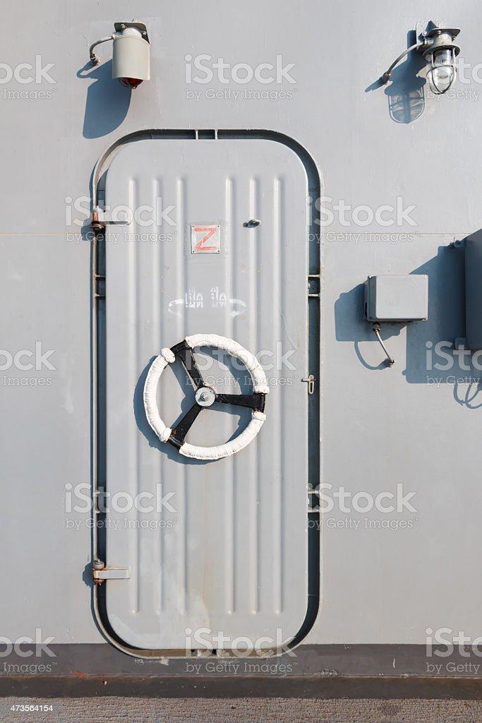 flagship door stock photo