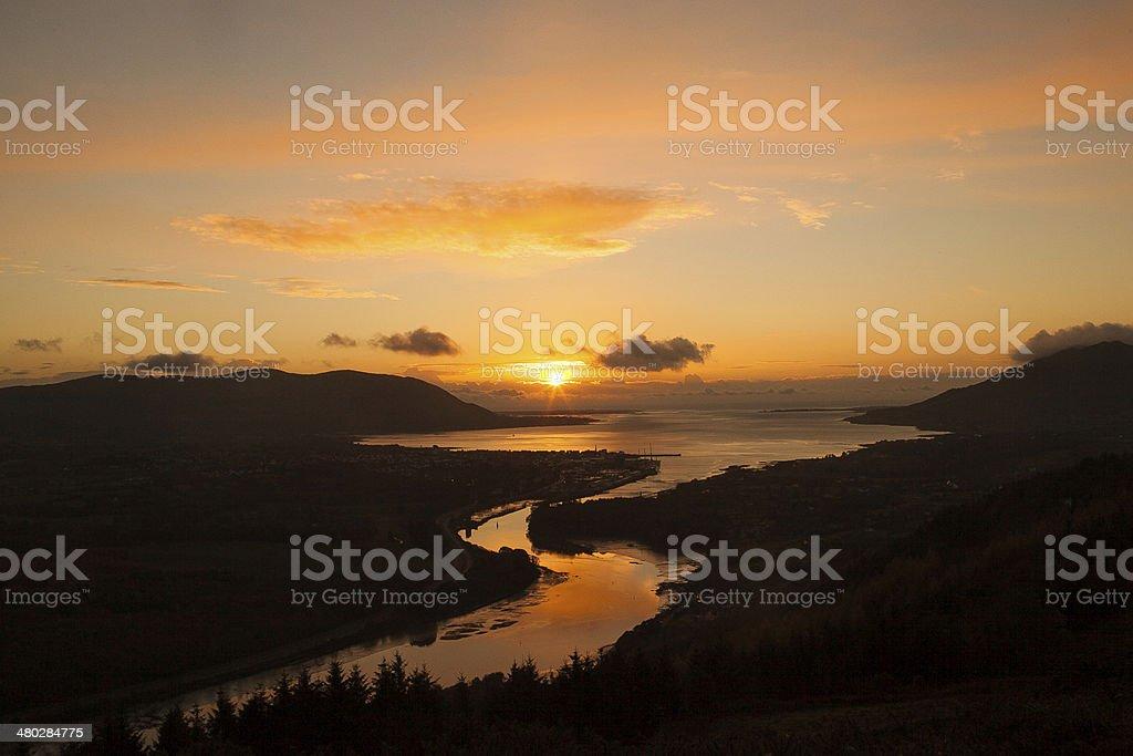 Flagstaff Sunrise stock photo