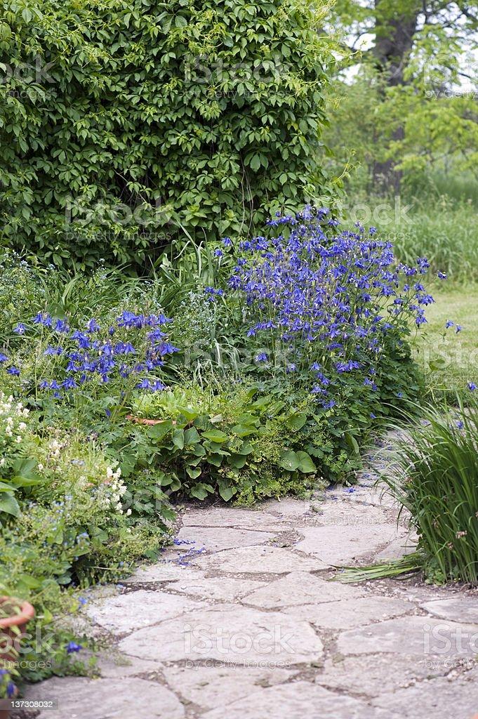 Flagstone Pathway royalty-free stock photo