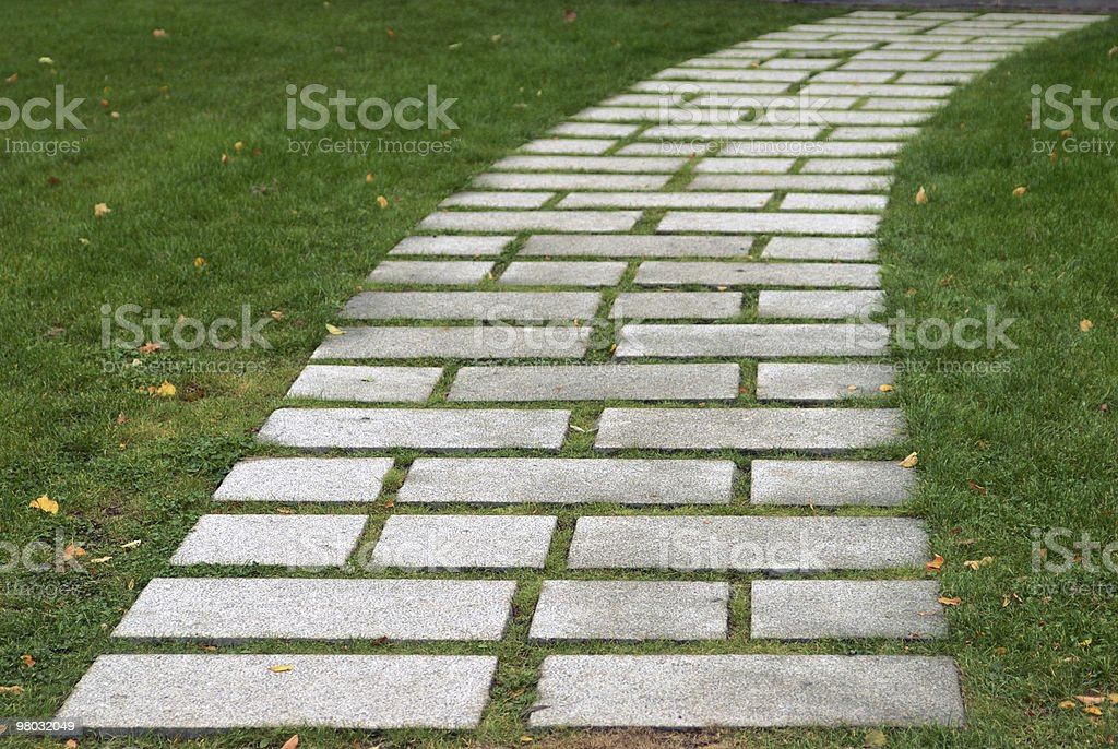 Flagstone walkway royalty-free stock photo