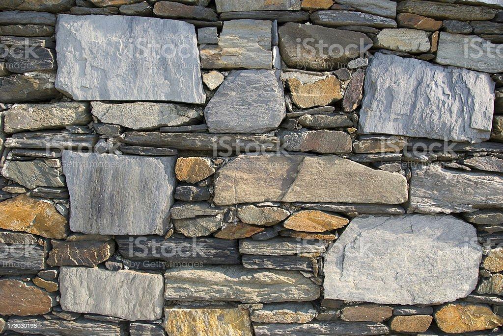 Flagstone Wall royalty-free stock photo