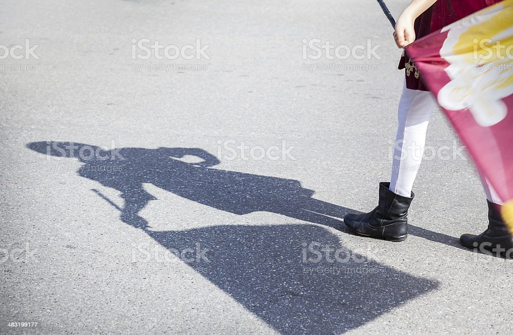 Flag-waver In Traditional Parade royalty-free stock photo