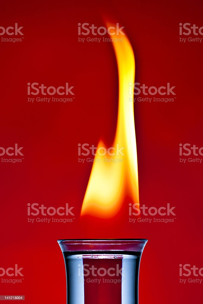 Flaiming Cocktail stock photo