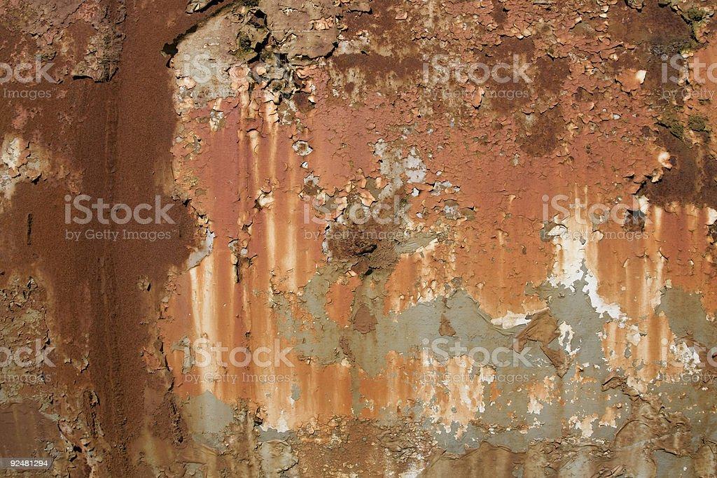 Schuppige Farbe und Rost Hintergrund Lizenzfreies stock-foto