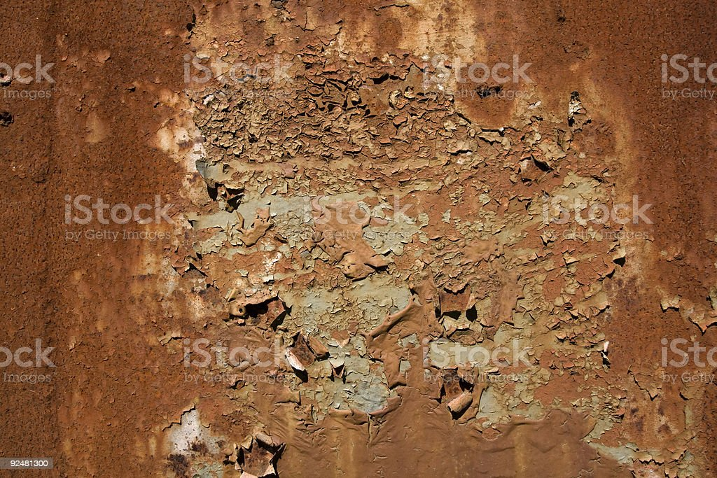 flakey paint and rust background royalty-free stock photo