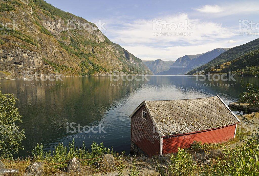 Flam Fjordscape royalty-free stock photo