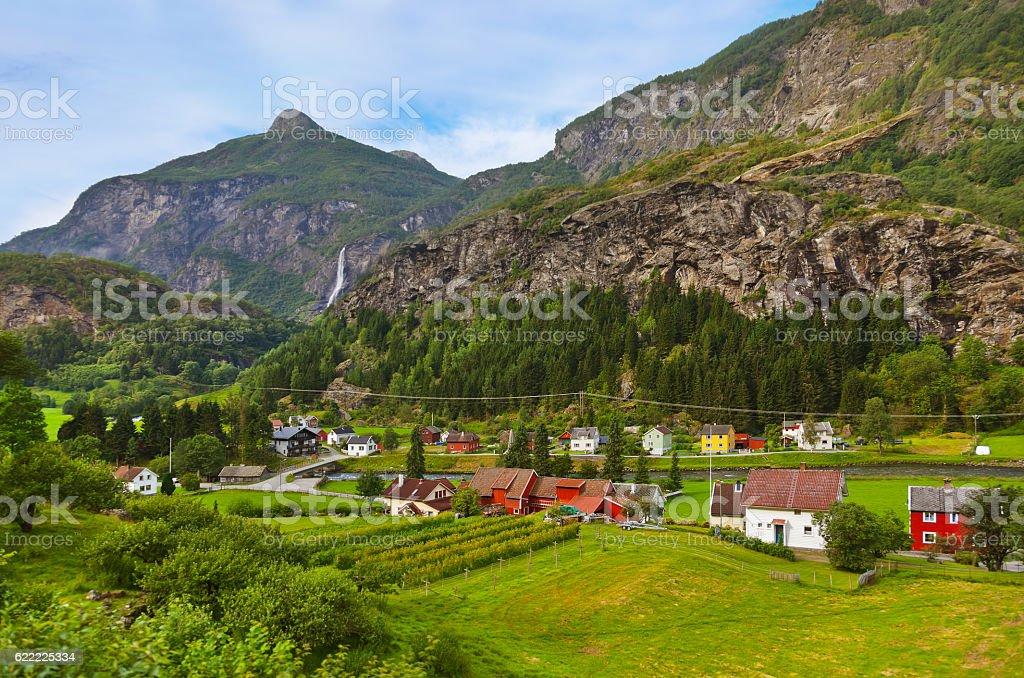 Flam in Norway stock photo