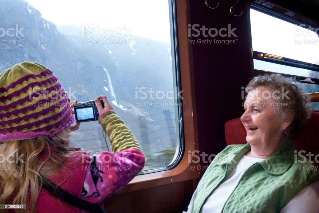 Flam train stock photo
