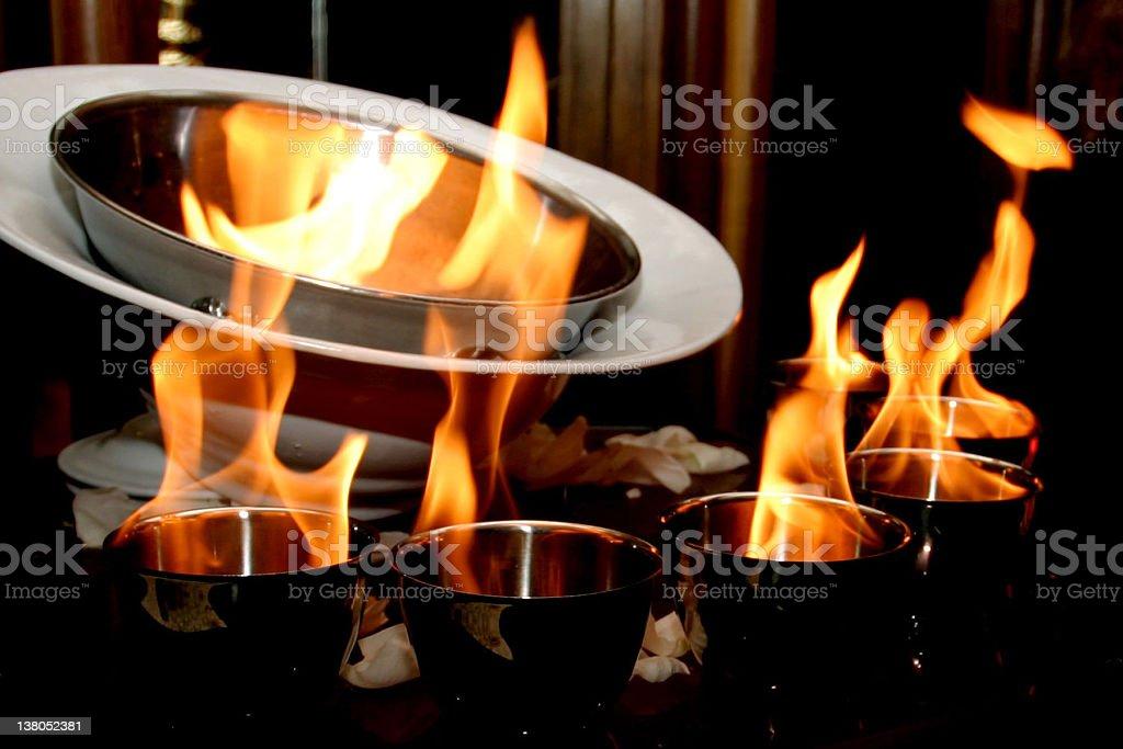 Flambé stock photo