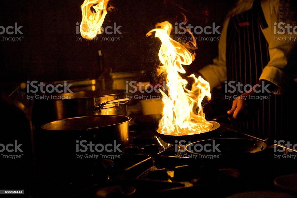 Flambe stock photo