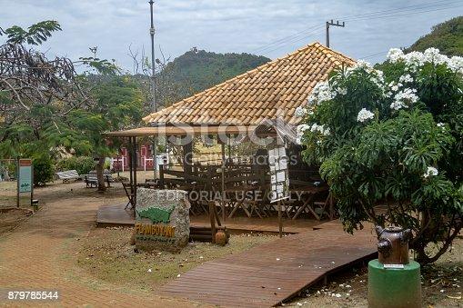 istock Flamboyant Restaurant at Flamboyant Square - Fernando de Noronha, Pernambuco, Brazil 879785544