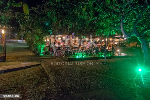 istock Flamboyant Restaurant in Flamboyant Square at night - Fernando de Noronha, Pernambuco, Brazil 880541030