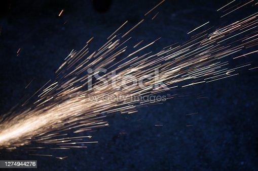 Description Concept of sparkles, flame and light