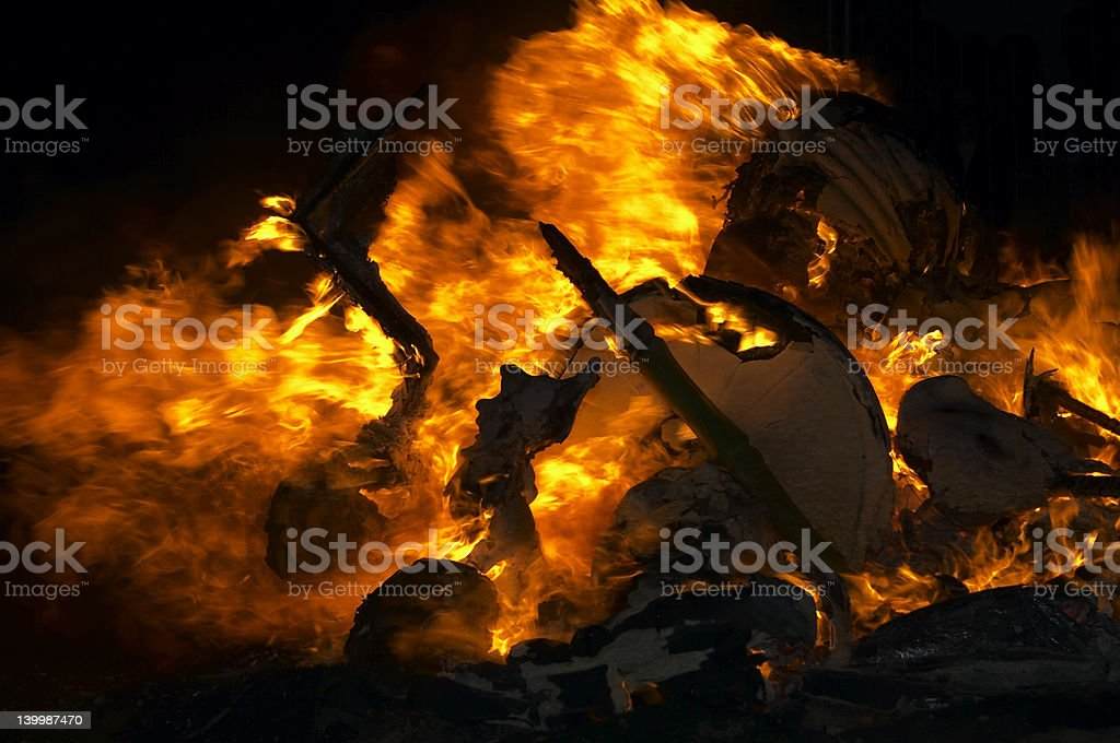 flame background, fallas Valencia royalty-free stock photo