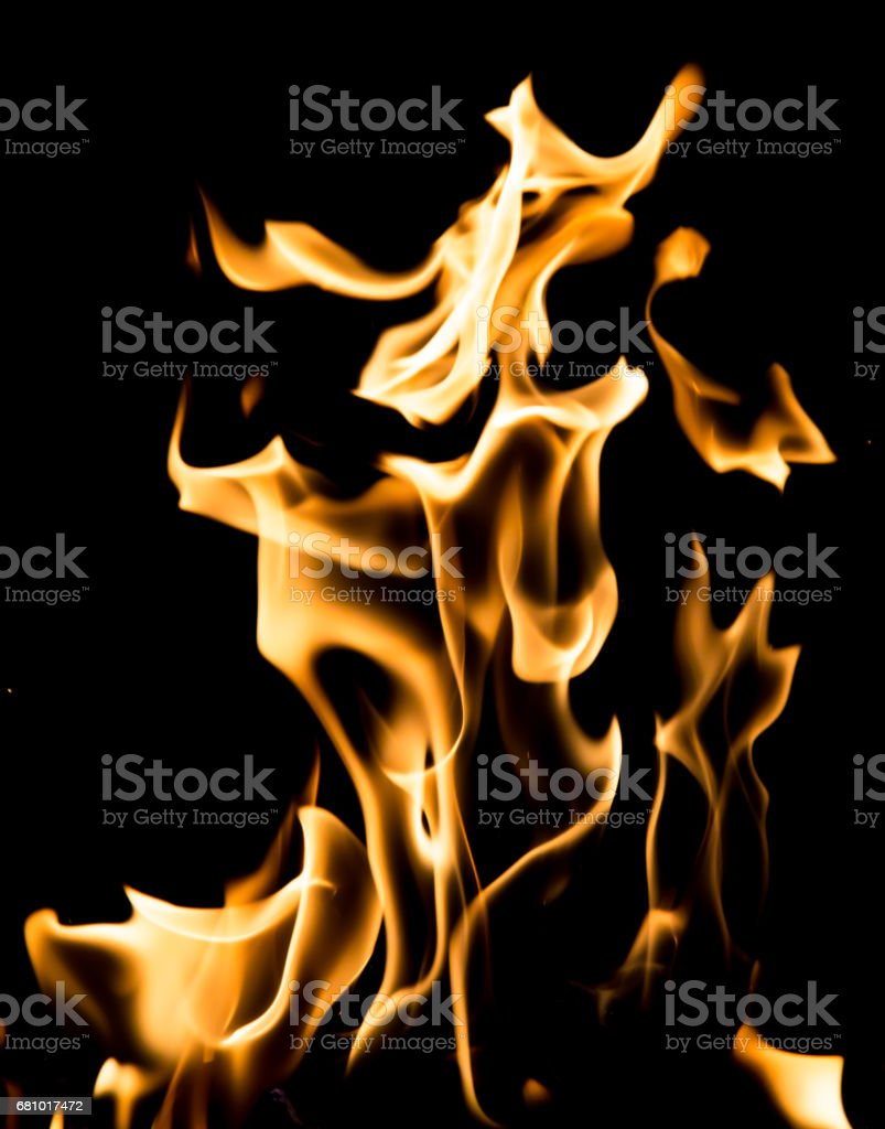 flame fire on black background royalty-free stock photo