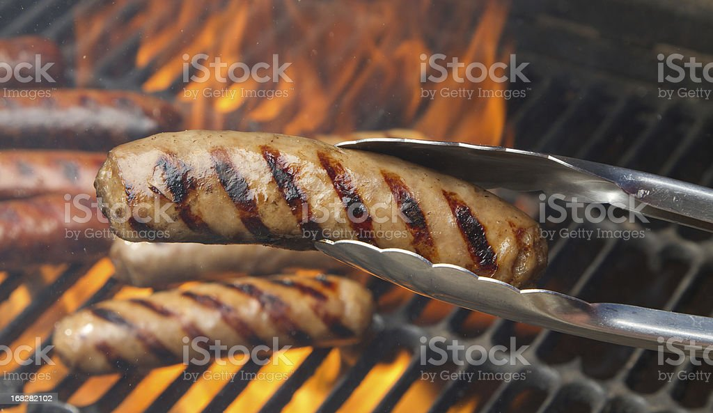 Flame grilled food stock photo