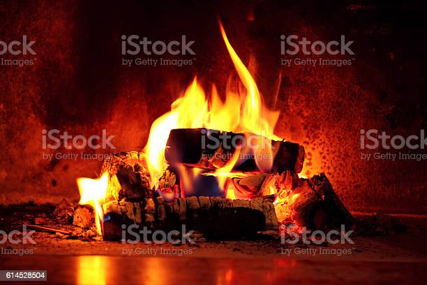 Photo of Flame in fireplace.