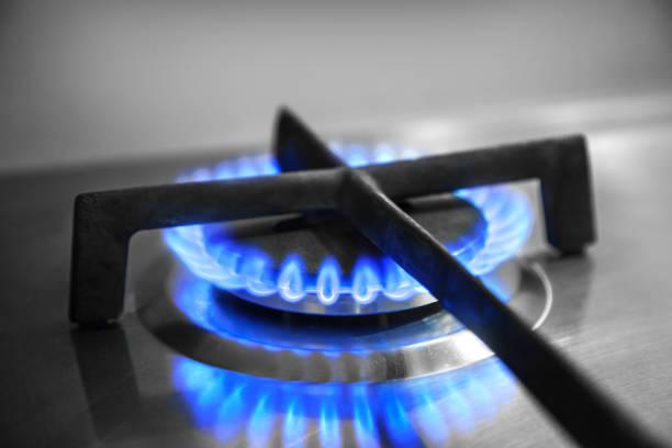 Flamme der Küche Gasherd – Foto