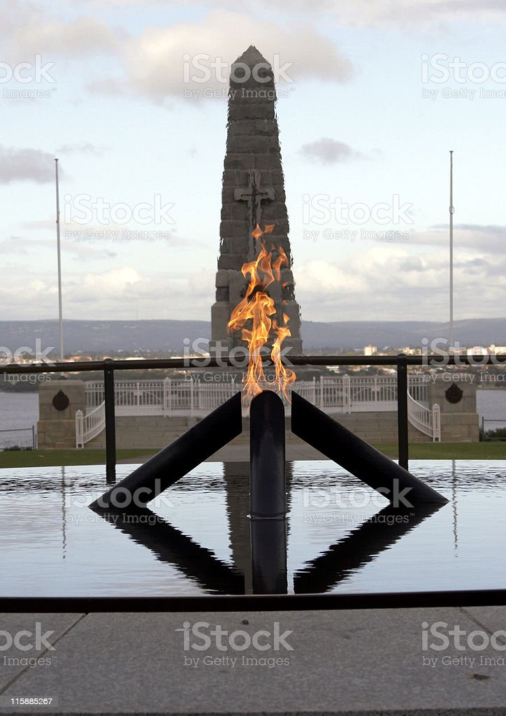 Flame of Rememberance stock photo