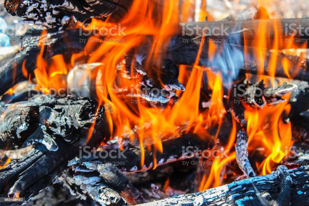 Yangının alevi - Royalty-free Ahşap Stok görsel
