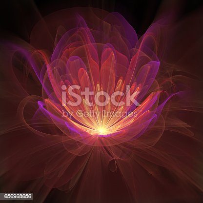 Abstract flame flower.