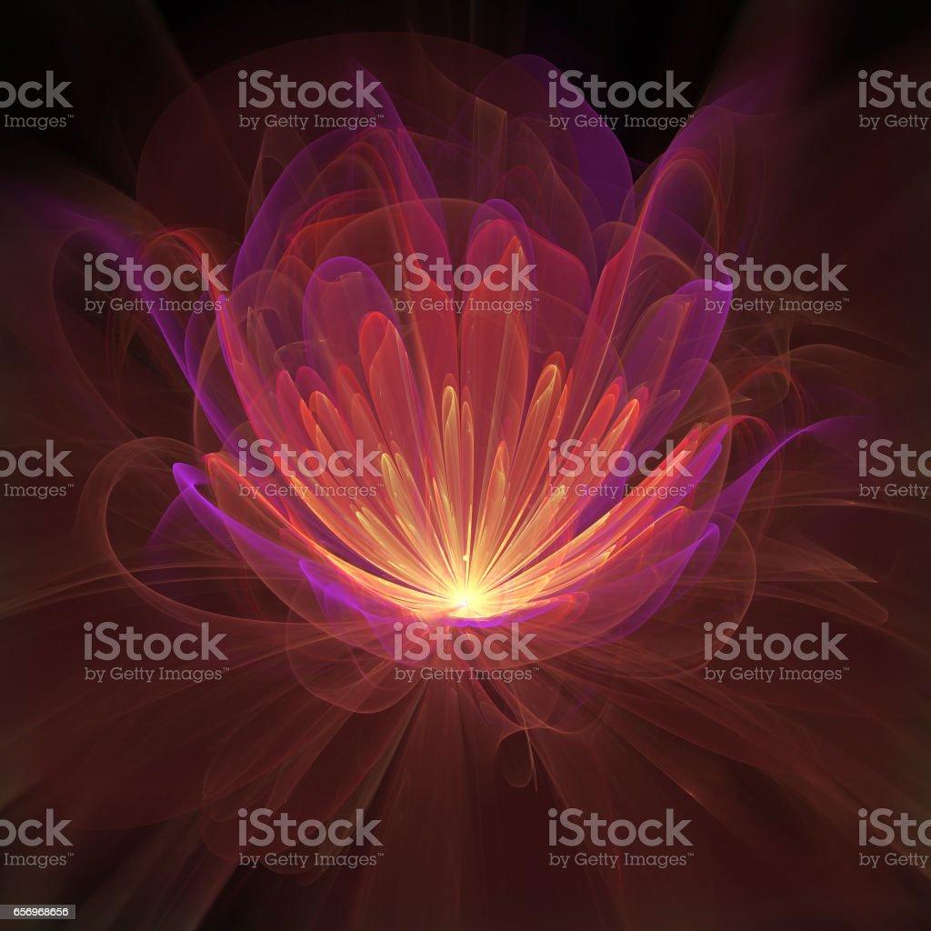 Flame Petals stock photo