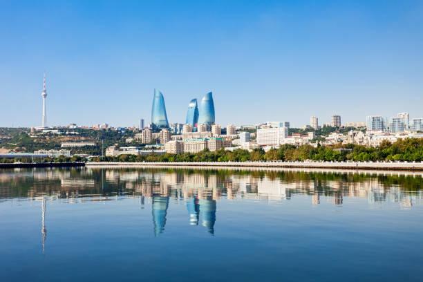 flame towers in baku - azerbejdżan zdjęcia i obrazy z banku zdjęć