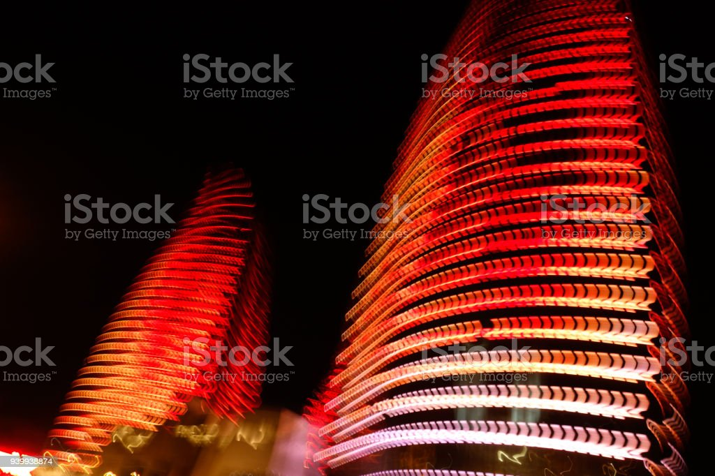 Flame Towers - modern architecture of Baku, Azerbaijan stock photo