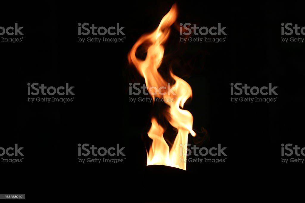 flame with black background stock photo