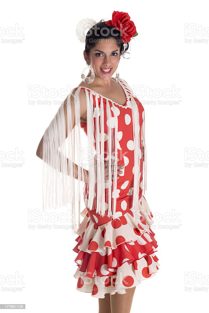 flamenca woman royalty-free stock photo