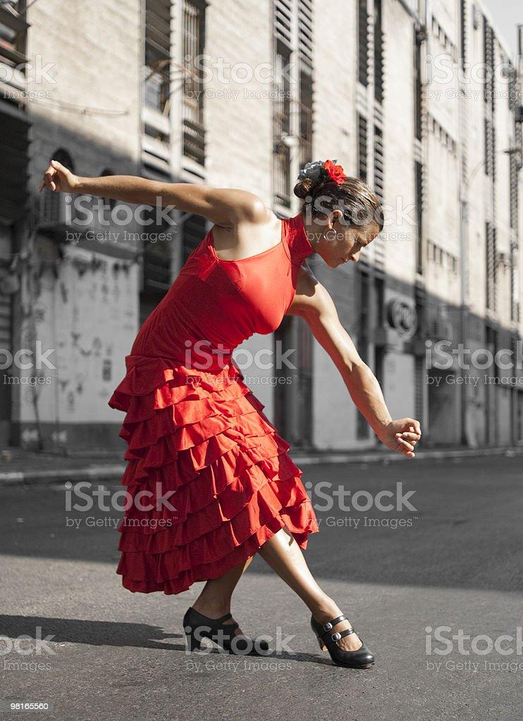 Flamenco fiocco foto stock royalty-free