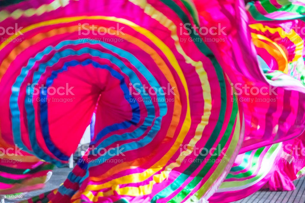 Flamenco dancer in the Caribbean stock photo