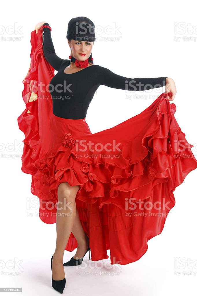 Flamenco dancer royalty-free stock photo