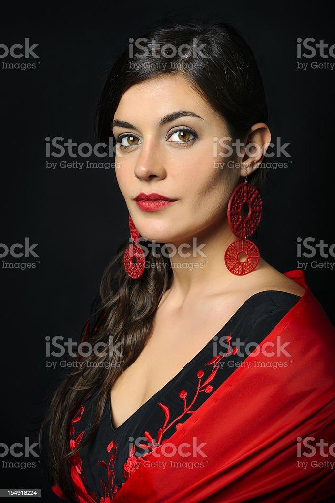 Flamenco dancer portrait royalty-free stock photo