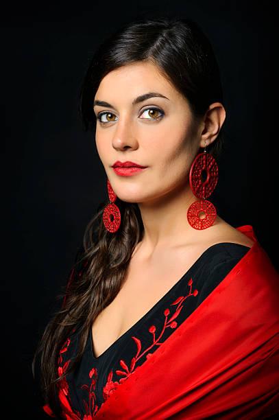 Flamenco dancer portrait stock photo