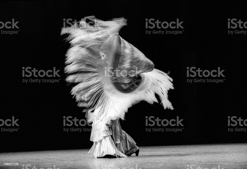 Flamenco dancer with shawl stock photo